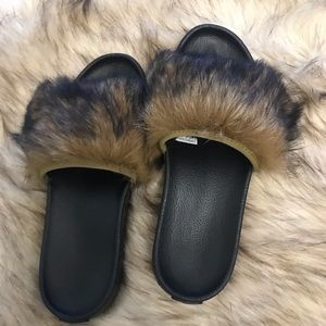 UGG Shoes - Ugg faux fur slides size 8